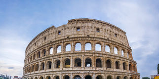 The Great Roman Colosseum Coliseum, Colosseo in Rome. View on the Great Roman Colosseum Coliseum, Colosseo ,also known as the Flavian Amphitheatre. Famous world Royalty Free Stock Image