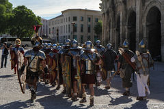 Great Roman games in Nimes, France Royalty Free Stock Photos