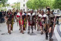 Great Roman games in Nimes, France Royalty Free Stock Images
