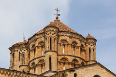 Great romanesque dome in Toro Collegiate Church in Zamora. Closeup view of great romanesque dome in the Collegiate Church in the town of Toro , Province of Royalty Free Stock Images