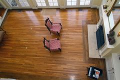 Great Room. As seen from a birds eye view Stock Image