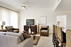 Great Room of Condominium Stock Images