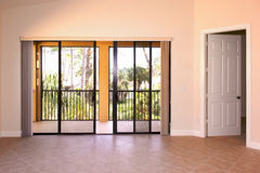 Great room with doors royalty free stock photography