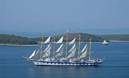 Great sailboat. On Hvar in Croatia Stock Photography