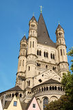 Great Saint Martin Church in Cologne Stock Photos
