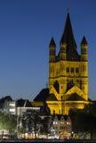 Great Saint Martin Church (Cologne) Royalty Free Stock Photo
