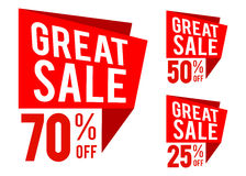 Great Sale With Speech Bubble Icon Stock Photography