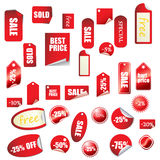 Great sales tags and stickers collection Royalty Free Stock Photos