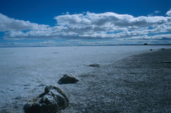 The Great Salt Flats Royalty Free Stock Photography