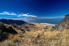 Great Salt Lake from Antelope Island. This photo was taken from Antelope Island of the Great Salt Lake Stock Image