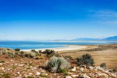 Great Salt Lake bonito da ilha do antílope fotos de stock royalty free