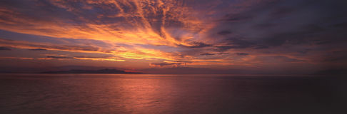 Great Salt Lake colors. Beautiful colors of the Great Salt Lake, panoramic Stock Photo