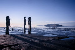 Great Salt Lake. The Great Salt Lake at low tide Royalty Free Stock Images