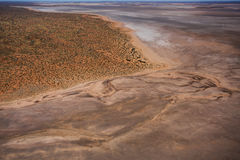 Great Salt Lake, Luftfoto Lizenzfreies Stockfoto