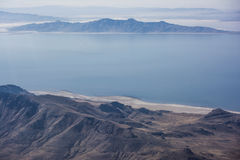 Great Salt Lake and Mountains Stock Photos