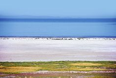 Great Salt Lake Scenery Royalty Free Stock Image