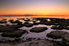 Great Salt Lake Sunset lascape Royalty Free Stock Photo