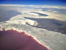 Great Salt Lake in Utah lizenzfreie stockfotos
