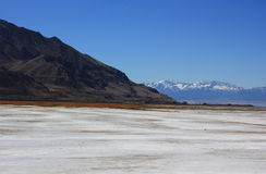 Great Salt Lake in Utah. Across from the 80 highway Royalty Free Stock Photos
