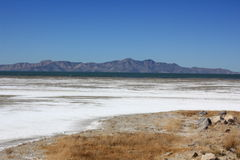 Great Salt Lake in Utah. Across from the 80 highway Royalty Free Stock Image