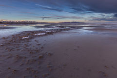 The Great Salt Lake in Utah Sunrise. This photo was taken at the Great Salt Lake in Utah in the winter time Royalty Free Stock Photography
