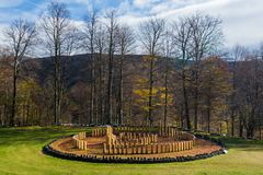 The great sanctuary of Sarmisegetuza. Sarmizegetusa was the capital capital of the Dacian Empire. Today is a UNESCO World Heritage Site Royalty Free Stock Image