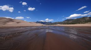 Great Sand Dunes. National Park Colorado USA Royalty Free Stock Image