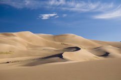 Great sand dunes. National Park & Preserve, Colorado, USA Royalty Free Stock Images