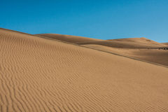 Great Sand Dunes with Bright, Blue Sky Royalty Free Stock Photos