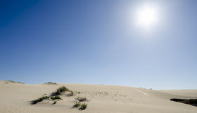 Great sand dunes. Of Corrubedo Stock Image