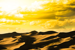 Great Sand Dunes Hot Golden Sunset Royalty Free Stock Image
