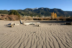 Great Sand Dunes National Park. A scenic view of Great Sand Dunes National Park in Colorado. This park is home to the tallest sand dunes in North America Stock Photography
