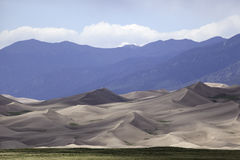 Great Sand Dunes National Park. Sand dunes at the Great Sand Dunes National Park Stock Photo