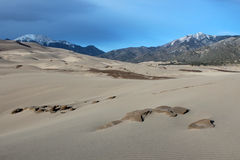Great Sand Dunes National Park. The Great Sand Dunes National Park in Alamosa, Colorado Stock Photos