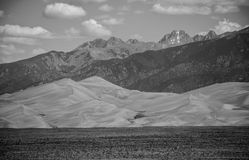 Great Sand Dunes National Park Black and white Landscape Royalty Free Stock Image