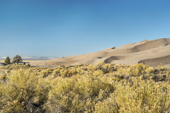 Great Sand Dunes National Park. Calm winter morning at Great Sand Dunes National Park in Colorado Stock Photo