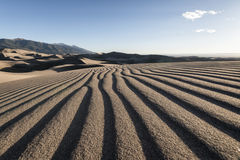 Great Sand Dunes National Park, Colorado, USA. Panoramic view of desert landscape in Great Sand Dunes National Park, Colorado, USA stock images