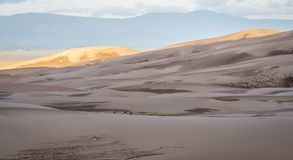 Great Sand Dunes National Park at dawn. First morning light - Great Sand Dunes National Park and Preserve in Colorado Royalty Free Stock Photo