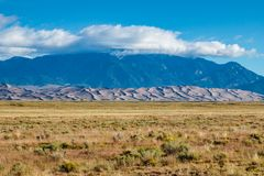 Great Sand Dunes National Park. Sand dunes from a distance in Colorado Stock Photo