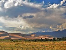 Great Sand Dunes National Park. Dunes stand as high as 750 feet at Great Sand Dunes National Park and Preserve just north of Alamosa, Colorado Royalty Free Stock Photo