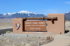 Great Sand Dunes National Park. The entrance to the Great Sand Dunes National Park in Alamosa, Colorado Royalty Free Stock Image
