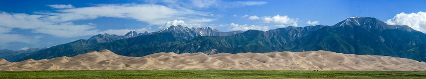 Great Sand Dunes National Park. A panorama of the Great Sand Dunes National Park Stock Photo