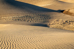 Great Sand Dunes National Park. Sand dunes patterns and texture at sunset - Great Sand Dunes National Park in Colorado Stock Photography