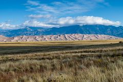 Great Sand Dunes National Park. Sand dunes from a distance in Colorado Royalty Free Stock Photography