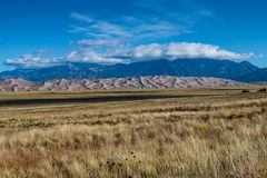 Great Sand Dunes National Park. Sand dunes from a distance in Colorado Royalty Free Stock Photo