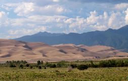 Great Sand Dunes National Park. Dunes stand as high as 750 feet at Great Sand Dunes National Park and Preserve just north of Alamosa, Colorado Royalty Free Stock Images