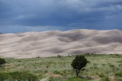 View on Great Sand Dunes Colorado royalty free stock photos