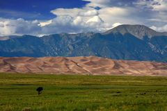 Great sand dunes Royalty Free Stock Photos