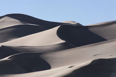 Great Sand Dunes National Park. A view of the sand dunes at the Great Sand Dunes National Park Royalty Free Stock Photos