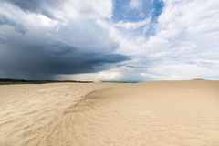 Great sand dunes of Saskatchewan. Rippled sands on a large sand dune Royalty Free Stock Images